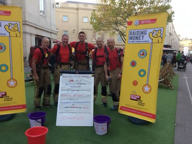 Firefighters take on Cotswold Way Challenge for Children in Need