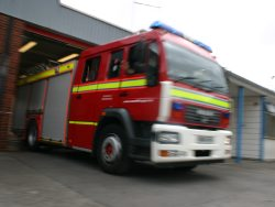Elderly man taken to hospital following Weston flat fire