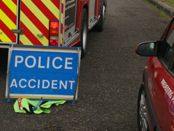 One rescued after car overturns
