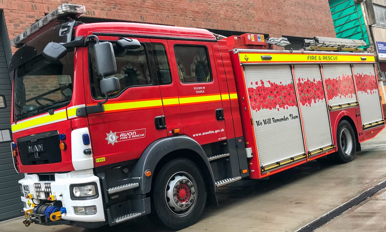 AF&RS mark centenary anniversary with wrapped fire engine