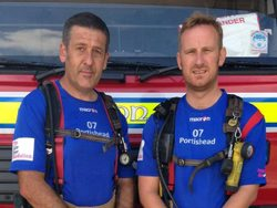Two firefighters in charity challenge