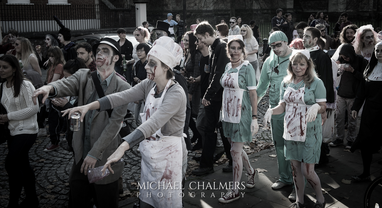 Firefighters set to decontaminate zombies!