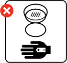Illustration showing batteries being removed from a smoke alarm