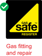 Gas Safe logo, used to certify the safety of gas installations and equipment